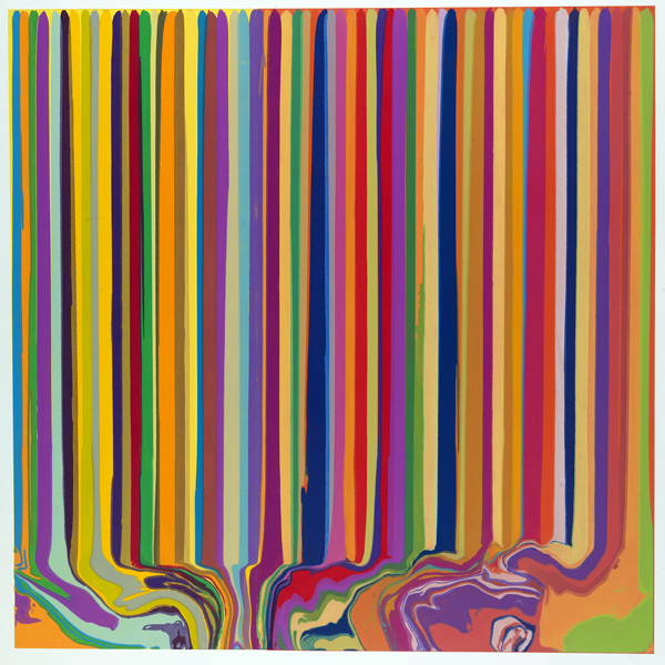Ian Davenport - Yellow/Orange Duplex